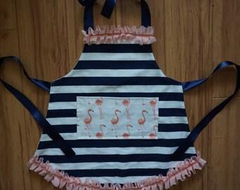 Navy Stripe + Flamingo