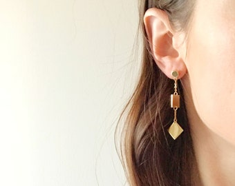 Geometric Shape Earrings - Hypoallergenic Titanium