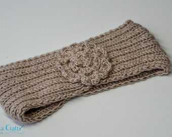 Hand made headband, made of 100% acrylic yarn, warm and soft, great for winter or as a gift, hand knitted head warmer, warm head wrap.