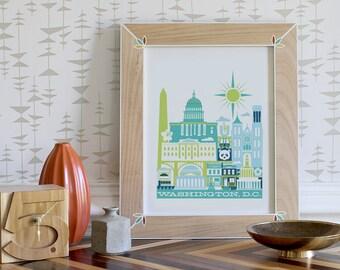 WASHINGTON, D.C. imprimer -11 x 14 po.  (couleur : Cool)