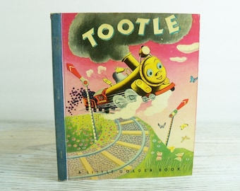 Tootle - Vintage Children's Book - 1948 - Little Golden Book, Gertrude Crampton - Tibor Gergely - No 21, 4th Printing - Blue Cloth Spine