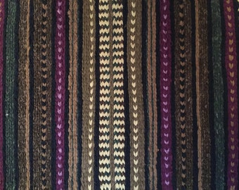 KAR Krafted 24''x 41'' Hand Twined Rug  Green & Purple Rag Rug Home Decor to Have or to Hang