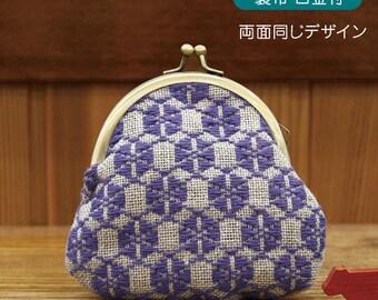 Morning Glory Design Olympus Kogin Stickerei Metallrahmen Beutel Kit    Traditionelles Japanisches Handwerk