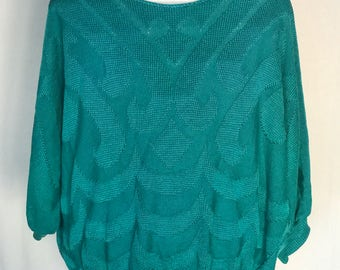 80's Baroque Dolman Sleeve Knit Sweater