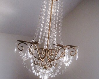 Lush Large Empire Candle Chandelier In Antiqued Gold MADE TO ORDER