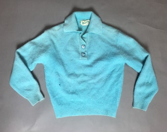 Vintage pull over sweater / angora sweater / vintage sweater / vintage outerwear / 8205