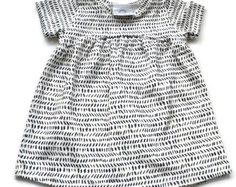 Grey Lines Tunic Dress - Baby Dress - Dress - Toddler Dress