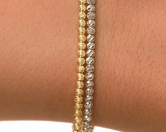 Gold Beaded Bracelet, 14k Gold Bracelet Gold Bracelet, Gold Bead Bracelet, Stacking Bracelet, Beaded Bracelet, Layered Bracelet.