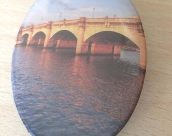 "magnets / Fridge Magnet: ""Seine bridge"""