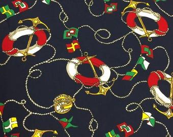 LAST PIECES!!! *** Nautical Ropes Fabric - Quilting Cotton