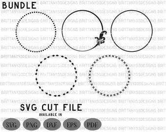 Svg frames / Svg Circles / SVG files for cricut / Silhouette cut files / frames clipart / svg cut files / Svg bundle / svg files
