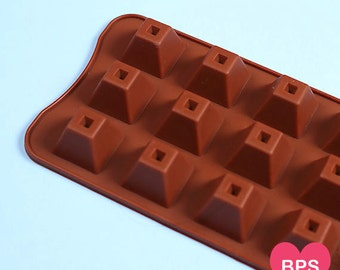 Small Pyramid Mold, Silicone Chocolate Mold, Pyramid Candy Molds, Silicone Candy Moulds, Chocolate Candy Molds