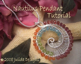 NEW--Nautilus Pendant Tutorial--Step by Step Instruction