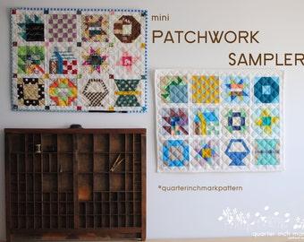 mini Patchwork Sampler PDF Sewing Pattern