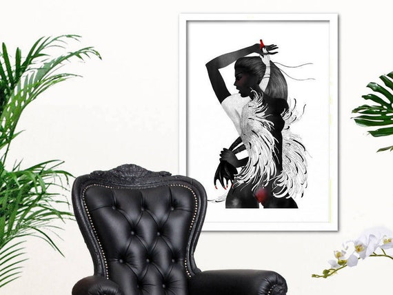 Leda and the swan // Limited edition art prints // Eclectic art prints