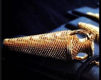 18K Solid Gold Pendant ''MYKONOS AMPHORA''