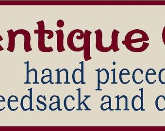 Antique Quilts Stencil 7 mil Mylar Reusable