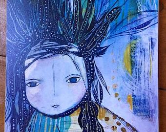 Gentle Spirit Warrior Print on heavy board