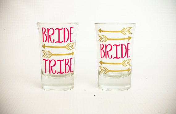 Bride Tribe Shot Glass,Bachelorette Party,Wedding Shot Glass,Bridesmaid,Maid of Honor,Matron of Honor,Bride to Be,Bridal Party,Wedding Favor