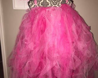 Tulle Pink dress with Ribbon