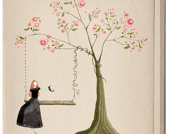 Soulmates (in spring) - Art Print