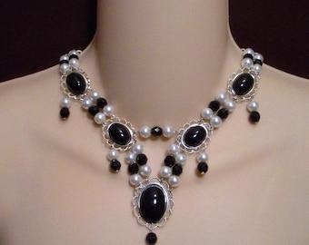 Renaissance Necklace, Renaissance Jewelry, Medieval Necklace, Tudor Necklace, Medieval Jewelry,  Elizabethan Necklace, Cosplay, Reign,