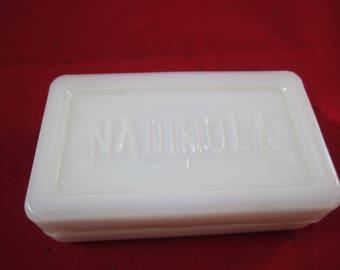 Nadinola milk glass box