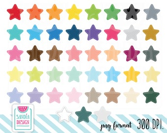 Stitched Star Clipart. Personal and comercial use.