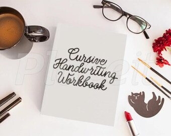 PDF Digital Printable Cursive Handwriting Workbook
