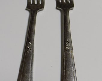 Set of 2 Vintage N.S. Co. Stainless USA Forks