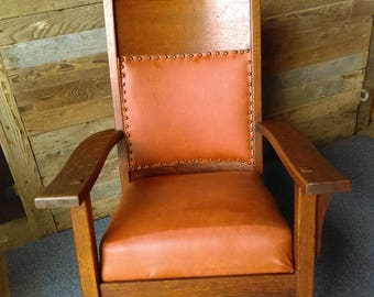 Vintage American Mission Style Rocking Chair