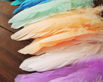 Craft Feathers Any Color Boho Party Wild One Party Decor Boho Baby Shower Boho Wedding wedding petals dreamcatcher feather garland craft