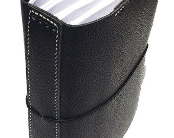 READY TO SHIP Pebbled Leather Travelers Notebook, Soft High Quality Leather with Pockets