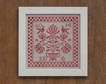Five Flowering Lilies - Instant Download PDF cross-stitch pattern