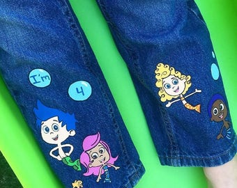 Bubble Guppies Birthday Outfit Jeans