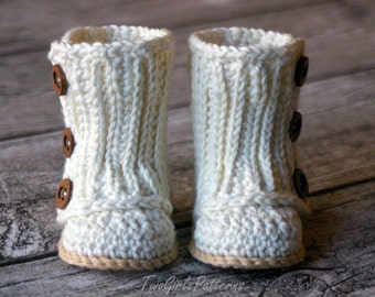 Crochet Pattern #112 Baby Wrap Boot  -  Instant Download - PDF L