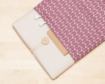 Galaxy Tab S3 sleeve, Galaxy Book case / Galaxy Tab E 9.6 / Galaxy Tab S2  / Chevron mauve