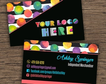 Dot Dot Smile Business Cards, Home Office Approved, Digital-Printable-Customized Business Card, Dot Dot Smile Cards