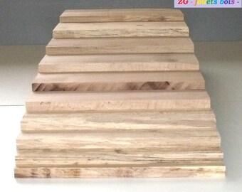 (Brown) staircase Montessori raw beech