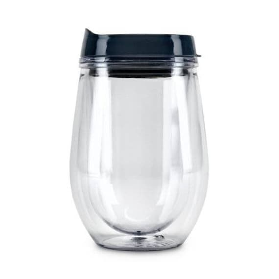 Double Walled Travel Wine Tumbler  - Great for Picnics Rivers Boats & So Much More