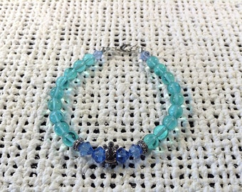 Turquoise and blue turtle bracelet