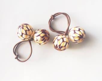 Snakeskin Hair Ties / Ponytail / Ponytail Holder / Ponytail Holders / Hair Ties / Hair Tie Set / Ponytail Bracelet / Hair Tie Bracelet