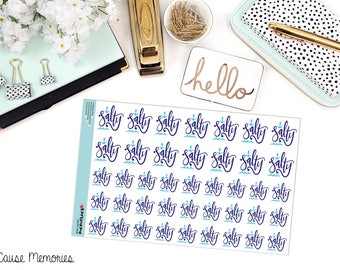 SALTY Paper Planner Stickers