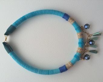 Snow Queen. Necklace. Designer's jewelry