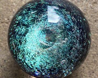 Contemporary art glass Galaxy Marble titled Stellar by PACIFICNWGLASS