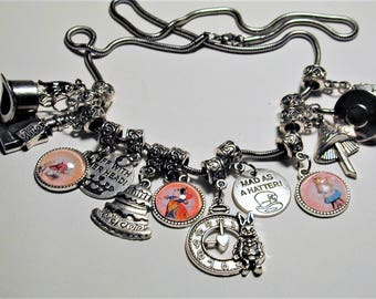 Alice In Wonderland Inspired Necklace #2 Handmade OOAK