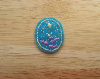 Starry Twilight Sky - Blue Calm (Patch, Pin, Brooch, or Magnet)