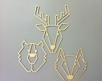 "Small ""Woodland Gang"" wall decoration"