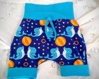 Shorts style harem pants 1-3 years jersey fabric evoutif stretchy unisex only 1 available