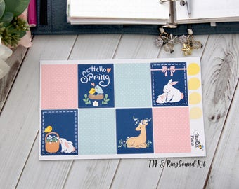 """Planner Sticker Kit """"Sweet Spring"""" Erin Condren, coil bound, TN, Ringbound"""